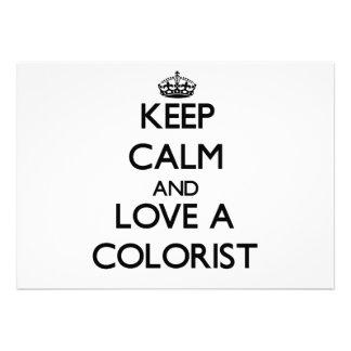 Guarde la calma y ame a un Colorist Invitacion Personalizada