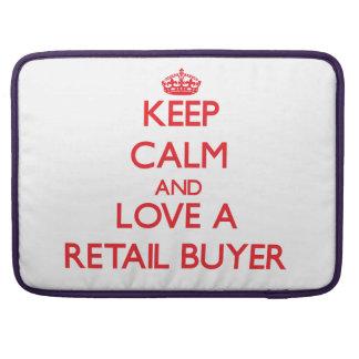 Guarde la calma y ame a un comprador al por menor funda macbook pro