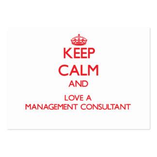 Guarde la calma y ame a un consultor en administra plantilla de tarjeta personal