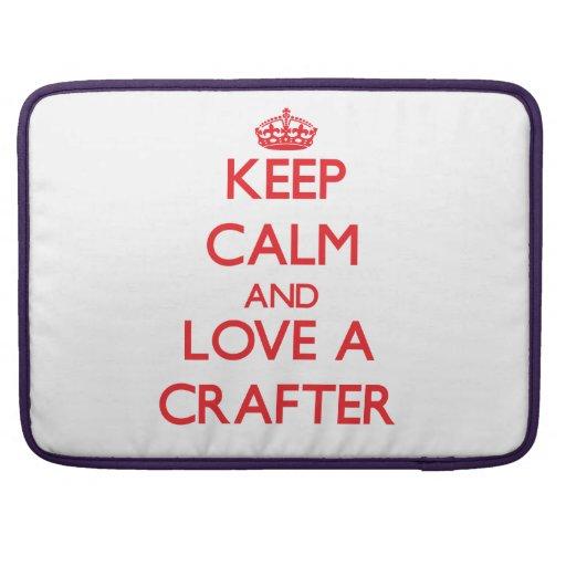 Guarde la calma y ame a un Crafter Funda Macbook Pro