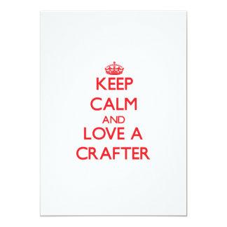 Guarde la calma y ame a un Crafter Invitación 12,7 X 17,8 Cm