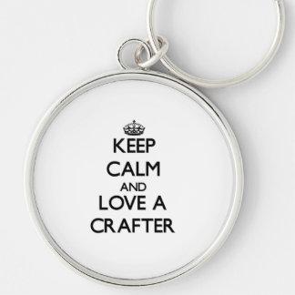 Guarde la calma y ame a un Crafter Llavero