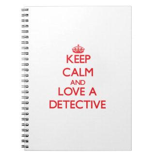 Guarde la calma y ame a un detective libros de apuntes