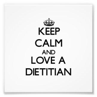 Guarde la calma y ame a un dietético fotografias