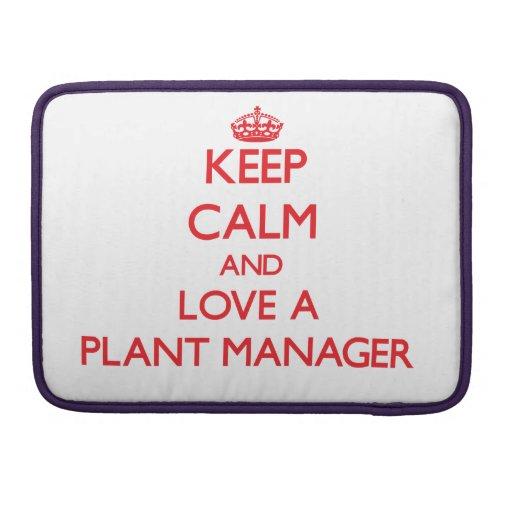 Guarde la calma y ame a un director de planta fundas macbook pro