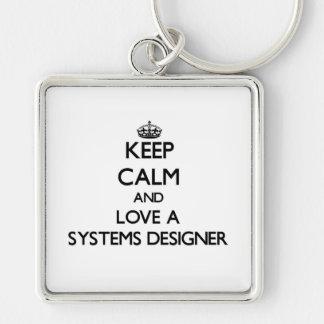 Guarde la calma y ame a un diseñador de sistemas llaveros