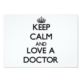 Guarde la calma y ame a un doctor anuncios personalizados