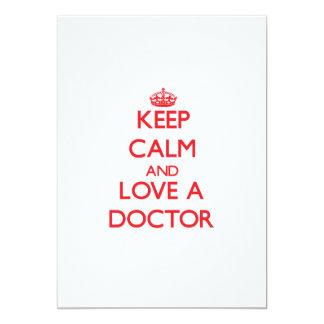 Guarde la calma y ame a un doctor comunicado