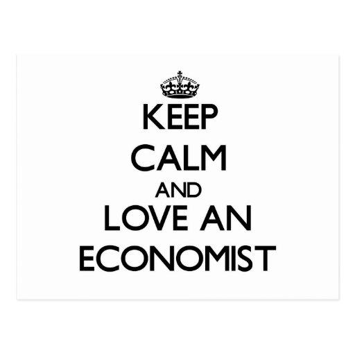 Guarde la calma y ame a un economista postal