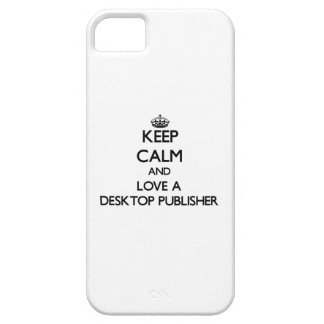 Guarde la calma y ame a un editor de escritorio iPhone 5 funda