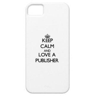 Guarde la calma y ame a un editor iPhone 5 funda