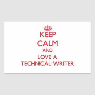 Guarde la calma y ame a un escritor técnico etiquetas