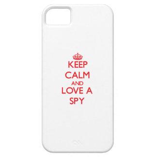 Guarde la calma y ame a un espía iPhone 5 funda