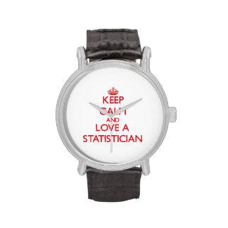 Guarde la calma y ame a un estadístico relojes de mano