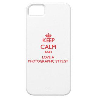 Guarde la calma y ame a un estilista fotográfico iPhone 5 Case-Mate protector