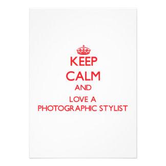 Guarde la calma y ame a un estilista fotográfico anuncio