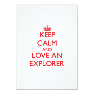 Guarde la calma y ame a un explorador comunicados personalizados