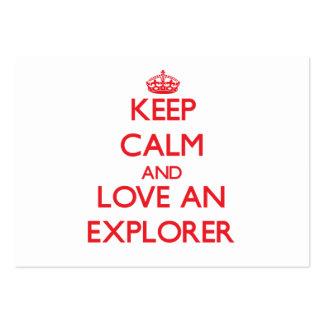 Guarde la calma y ame a un explorador tarjeta de visita