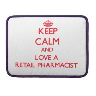 Guarde la calma y ame a un farmacéutico al por men fundas para macbook pro