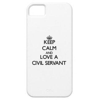 Guarde la calma y ame a un funcionario iPhone 5 carcasas