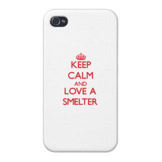 Guarde la calma y ame a un fundidor iPhone 4 protector
