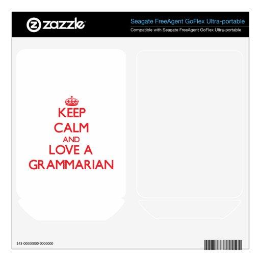 Guarde la calma y ame a un gramático FreeAgent GoFlex skins
