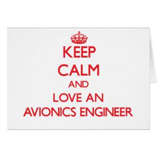 Guarde la calma y ame a un ingeniero de la aviónic tarjeta