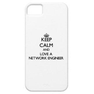 Guarde la calma y ame a un ingeniero de la red iPhone 5 cárcasa