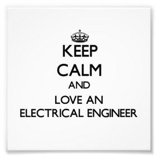 Guarde la calma y ame a un ingeniero eléctrico fotografía