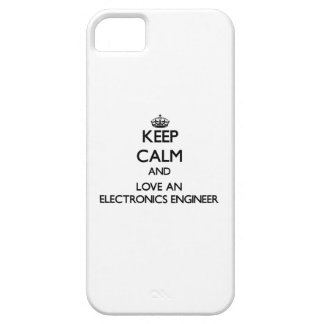 Guarde la calma y ame a un ingeniero electrónico iPhone 5 funda