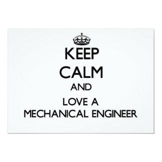 Guarde la calma y ame a un ingeniero industrial invitacion personal
