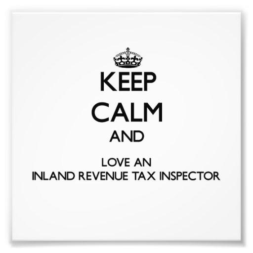 Guarde la calma y ame a un inspector del impuesto  fotografia