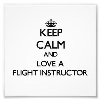 Guarde la calma y ame a un instructor del vuelo arte fotográfico