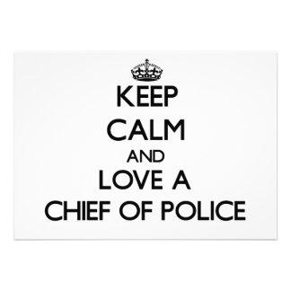 Guarde la calma y ame a un jefe de policía