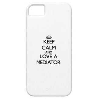Guarde la calma y ame a un mediador iPhone 5 Case-Mate cobertura