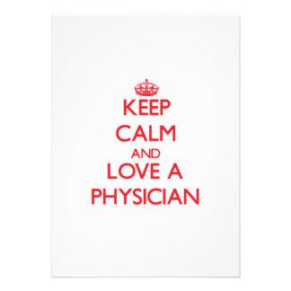 Guarde la calma y ame a un médico invitación