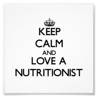 Guarde la calma y ame a un nutricionista fotografias