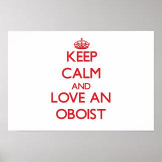 Guarde la calma y ame a un oboe posters