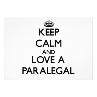 Guarde la calma y ame a un Paralegal Anuncios