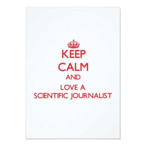 Guarde la calma y ame a un periodista científico invitacion personalizada