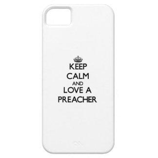Guarde la calma y ame a un predicador iPhone 5 Case-Mate cobertura
