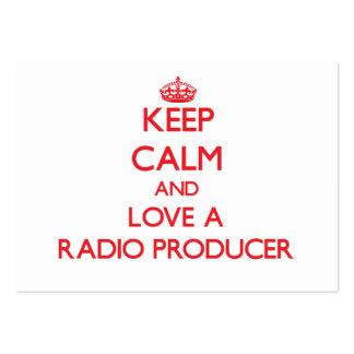 Guarde la calma y ame a un productor de radio tarjeta de visita