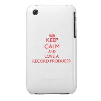 Guarde la calma y ame a un productor de registro iPhone 3 protector