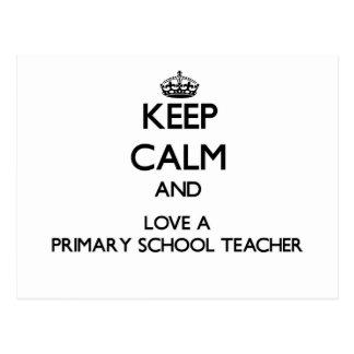Guarde la calma y ame a un profesor de escuela postal