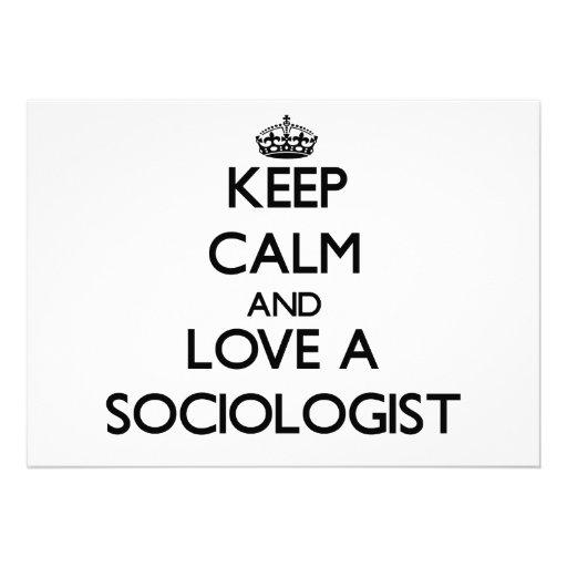 Guarde la calma y ame a un sociólogo anuncio