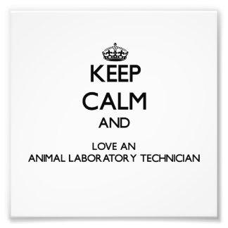Guarde la calma y ame a un técnico de laboratorio  cojinete
