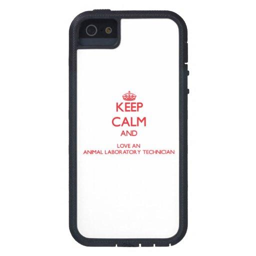 Guarde la calma y ame a un técnico de laboratorio  iPhone 5 Case-Mate carcasas