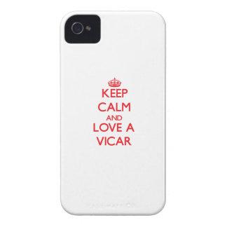 Guarde la calma y ame a un vicario Case-Mate iPhone 4 carcasas