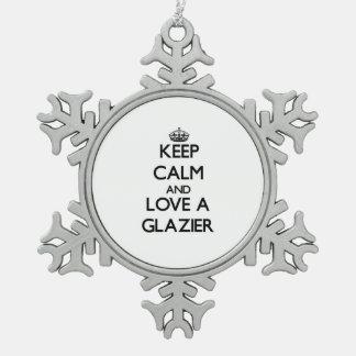 Guarde la calma y ame a un vidriero adornos