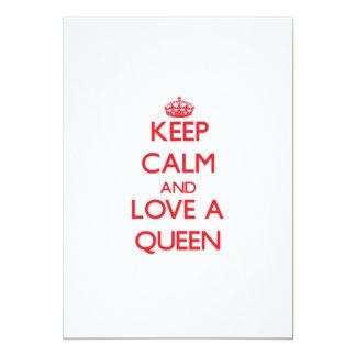 Guarde la calma y ame a una reina invitación